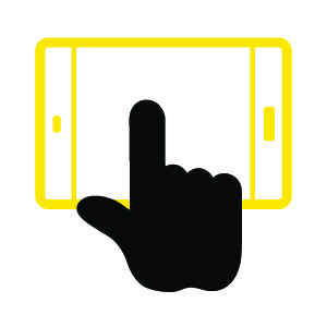 Manual Distraction icon — finger touching tablet