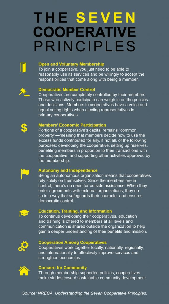 The Seven Cooperative Principles infographic