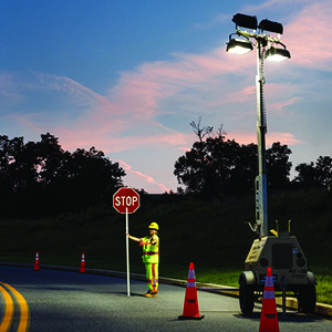 Illuminating a Work Zone: Safe Use of Floodlights During Night Work