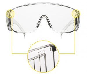 ANSI rated Z87 safety glasses
